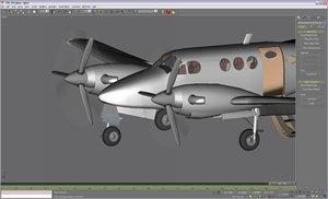 3d model beechcraft c90 gmax