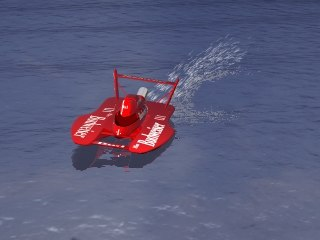 3d model hydroplane water animation