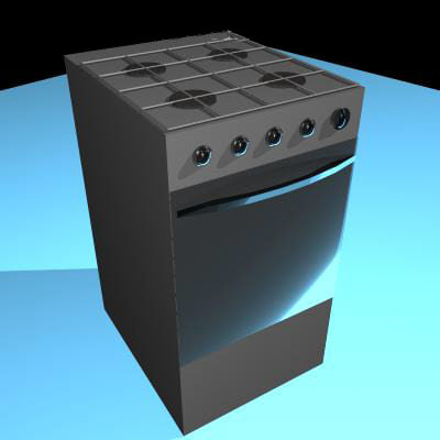 3d model kitchen cooker