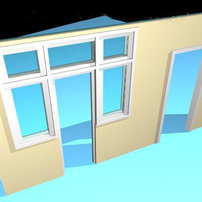 3ds max door frame windows