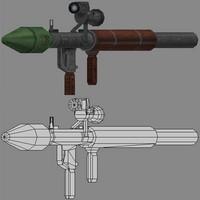 gun rpg 3d model