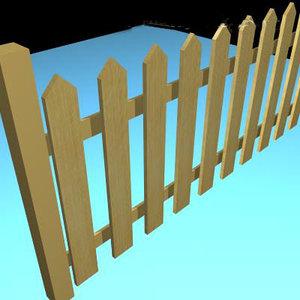 3d picket fence model