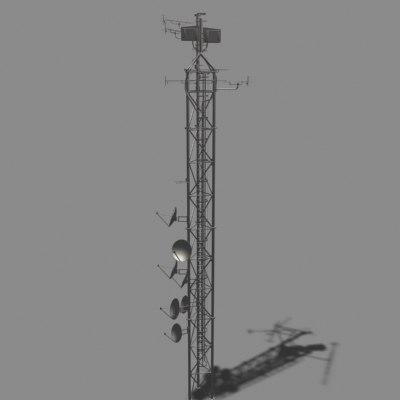 3d broadcaster model