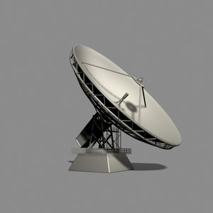 satellite broadcast 3d model