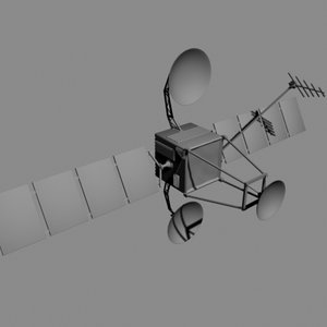 3d model satellite space
