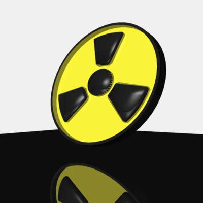3d radioactive symbol model