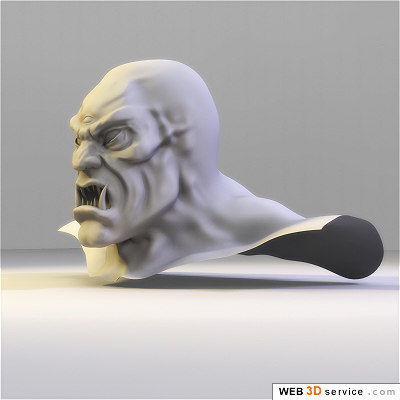 definition monster head 3d model