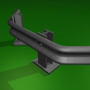 3ds max barrier motorway divider