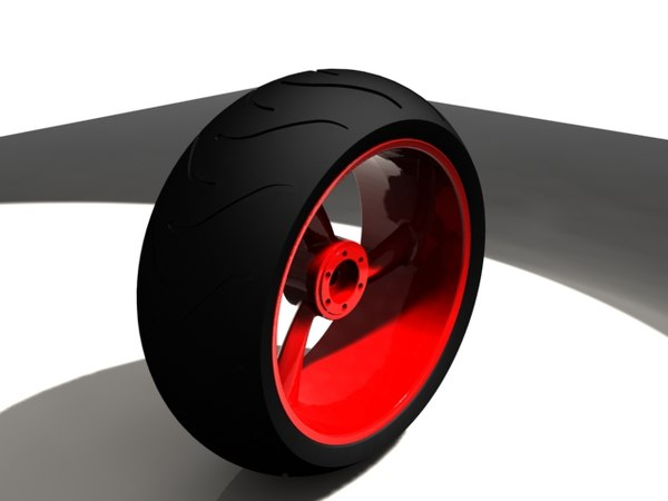 3d motorcycle wheel tire