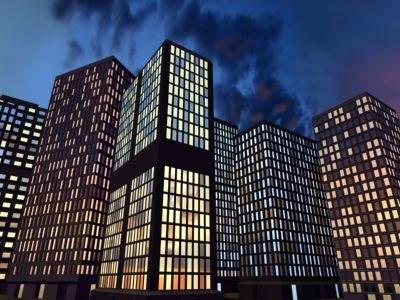 3d model skyscraper sky