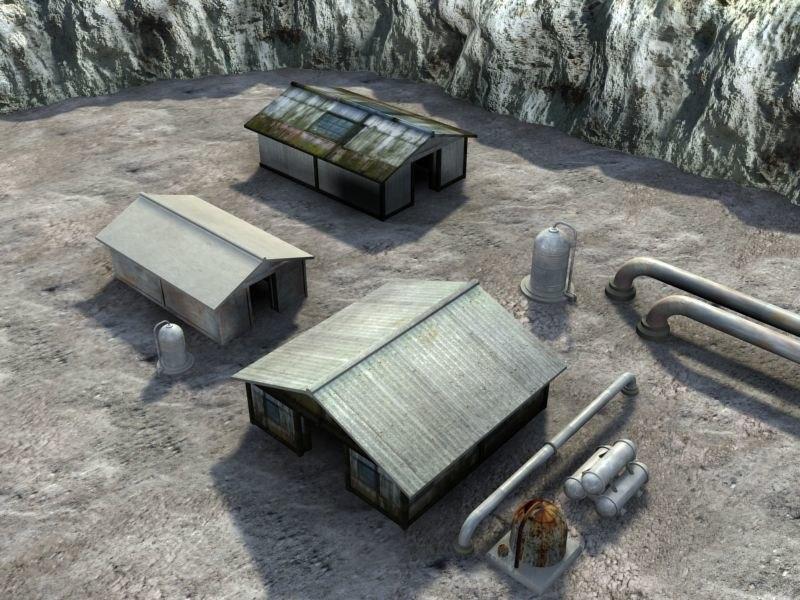 sheds buildings 3d 3ds