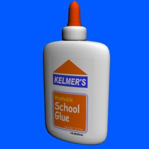 3d model glue bottle