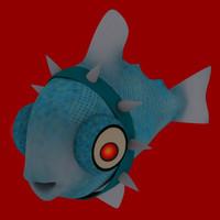 3ds max tuna fish