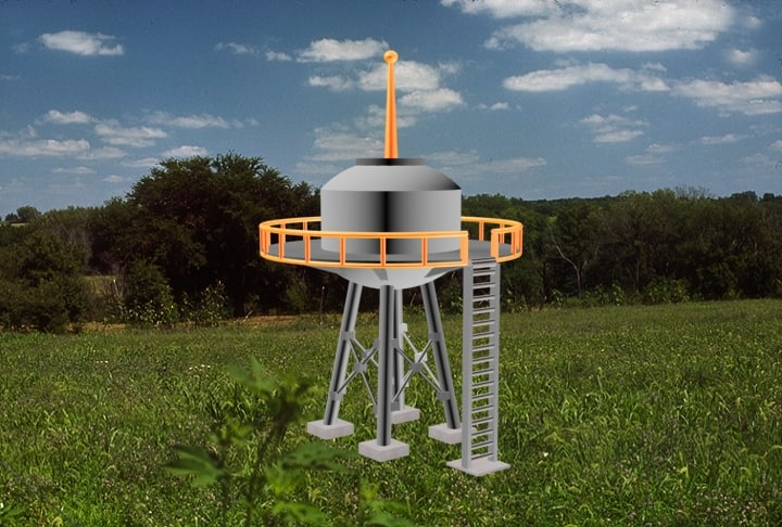 3d water tower