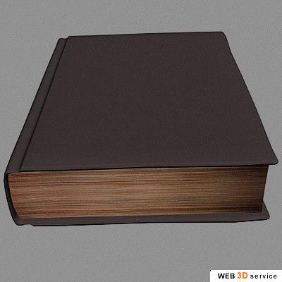 closed book 3d model