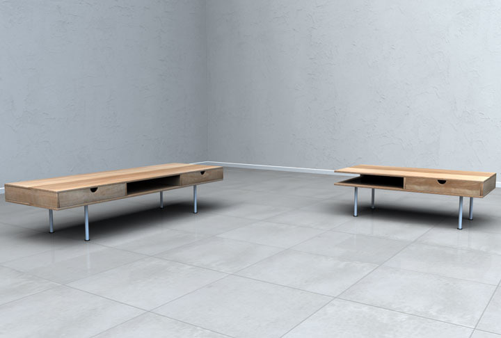 3d modern tables architectural furniture model