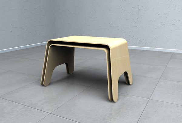 3ds max modern tables furniture