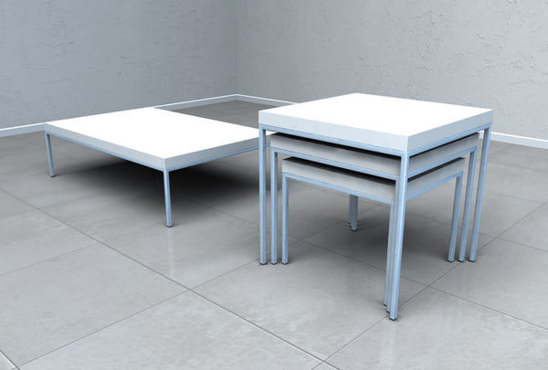 3d 3ds modern table