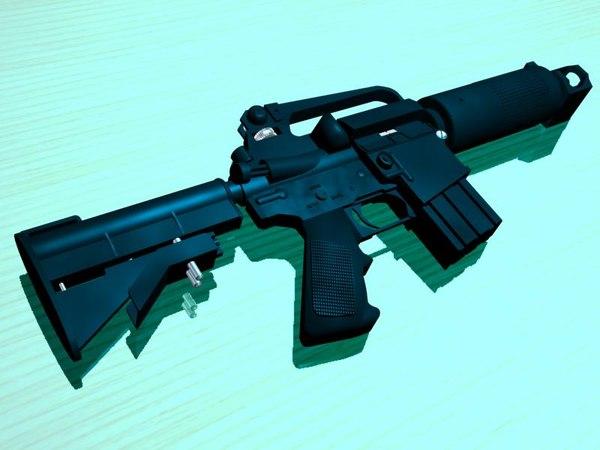 modern rifle 3d model