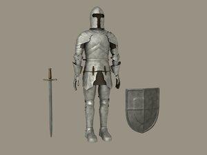 knight armor - 3d model