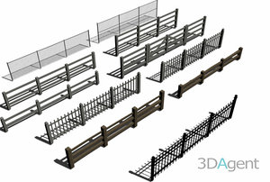 fence set 3d model