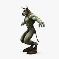 minotaur fantasy 3d model