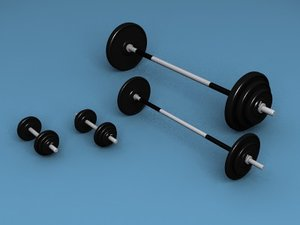 workout weigts 3d model