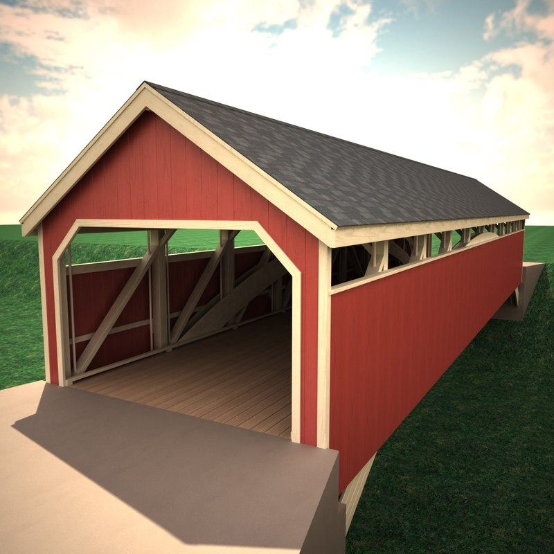 covered bridge 3d 3ds