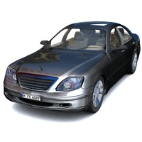 3d model mercedes benz s-class