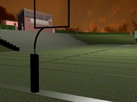 school stadium football 3d 3ds