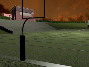 school stadium football 3d 3ds