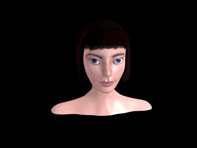 3d model female face