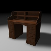 3ds max antique wooden desk