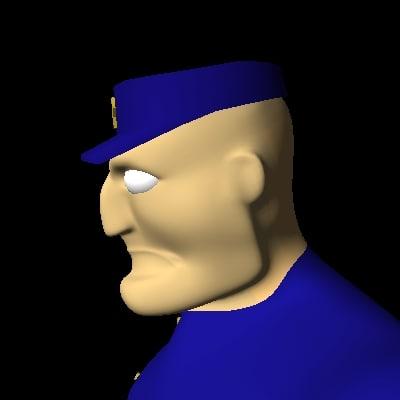 cartoon security guard police officer lwo