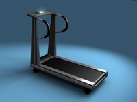 workout treadmill 3d max