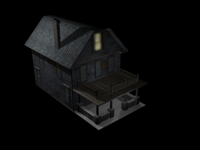 3dsmax old house creepy