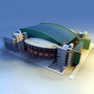 sport pavilion 3d model