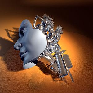 robot head c4d