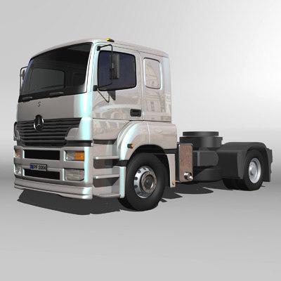 truck zipped 3d model