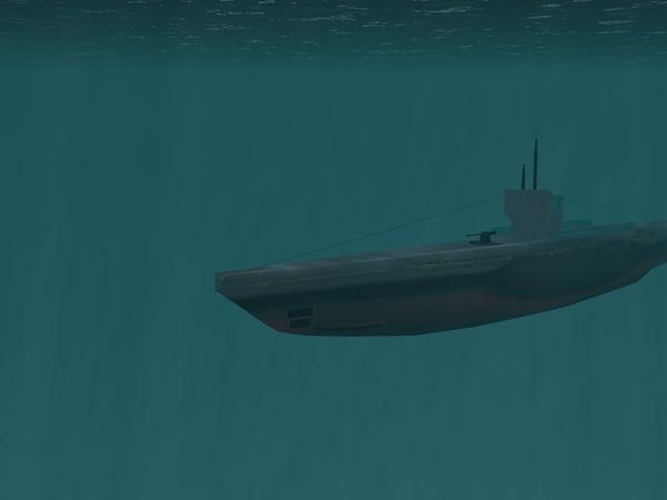 u-boat 3d model