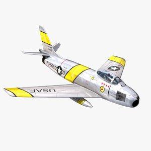3d f-86 sabre model