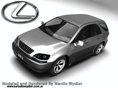 lexus rx300 3d model