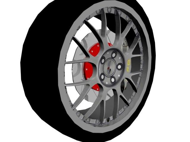 wheel sports 3d max