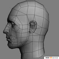 3dsmax male head