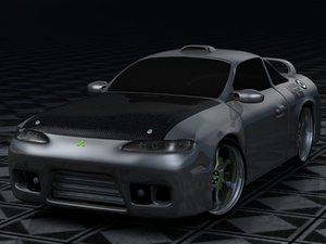eclipse mitsubishi gsx 3d model