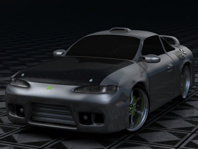 eclipse mitsubishi gsx 3d model