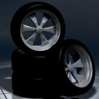 free rims classic muscle 3d model