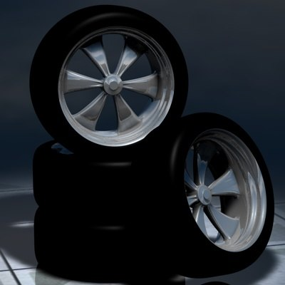 Free Rims Classic Muscle 3d Model