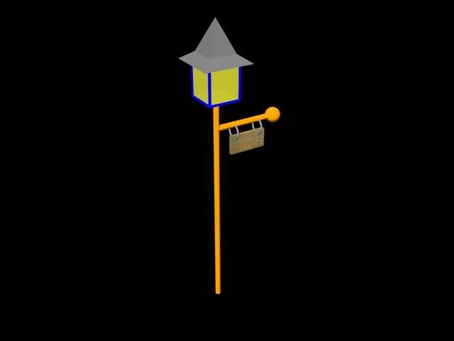 3d model light pole