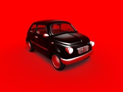 custom car fiat 500 3d model